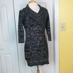 4/$25 Pink Rose marled knit sweater dress